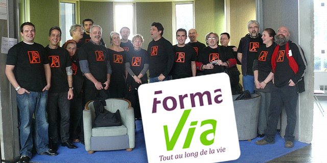 Les formateurs de Formavia lors d'un Formacamp